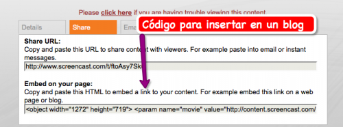 Codigo insertar video